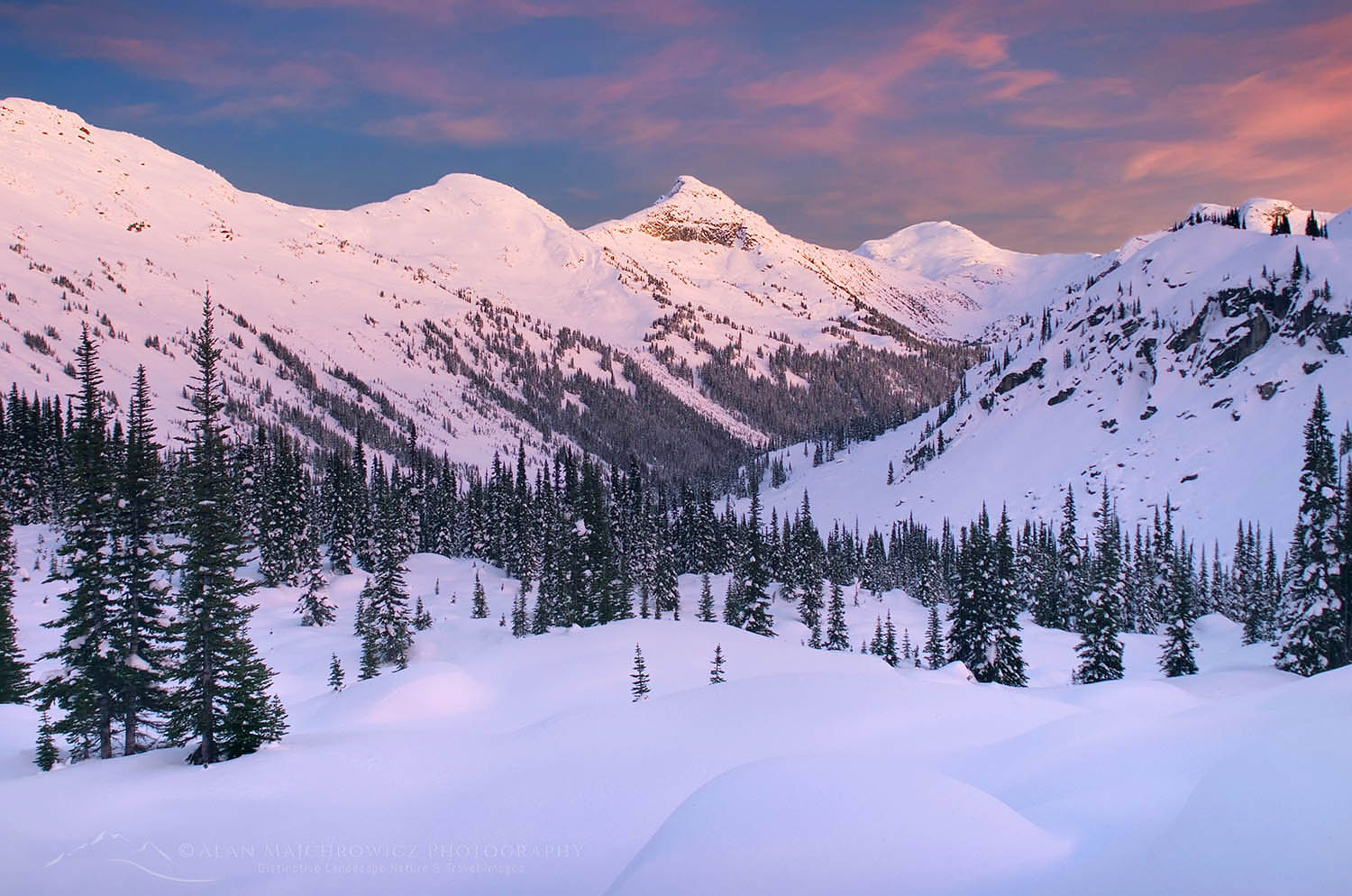Marriott Basin in winter, Coast Mountains British Columbia Canada
