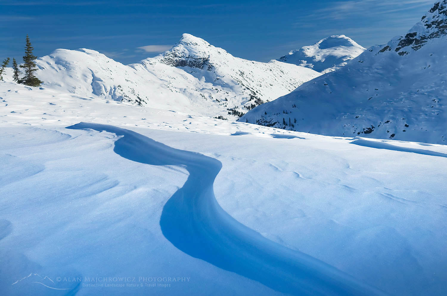 Upper Marriott Basin in winter, Coast Mountains British Columbia