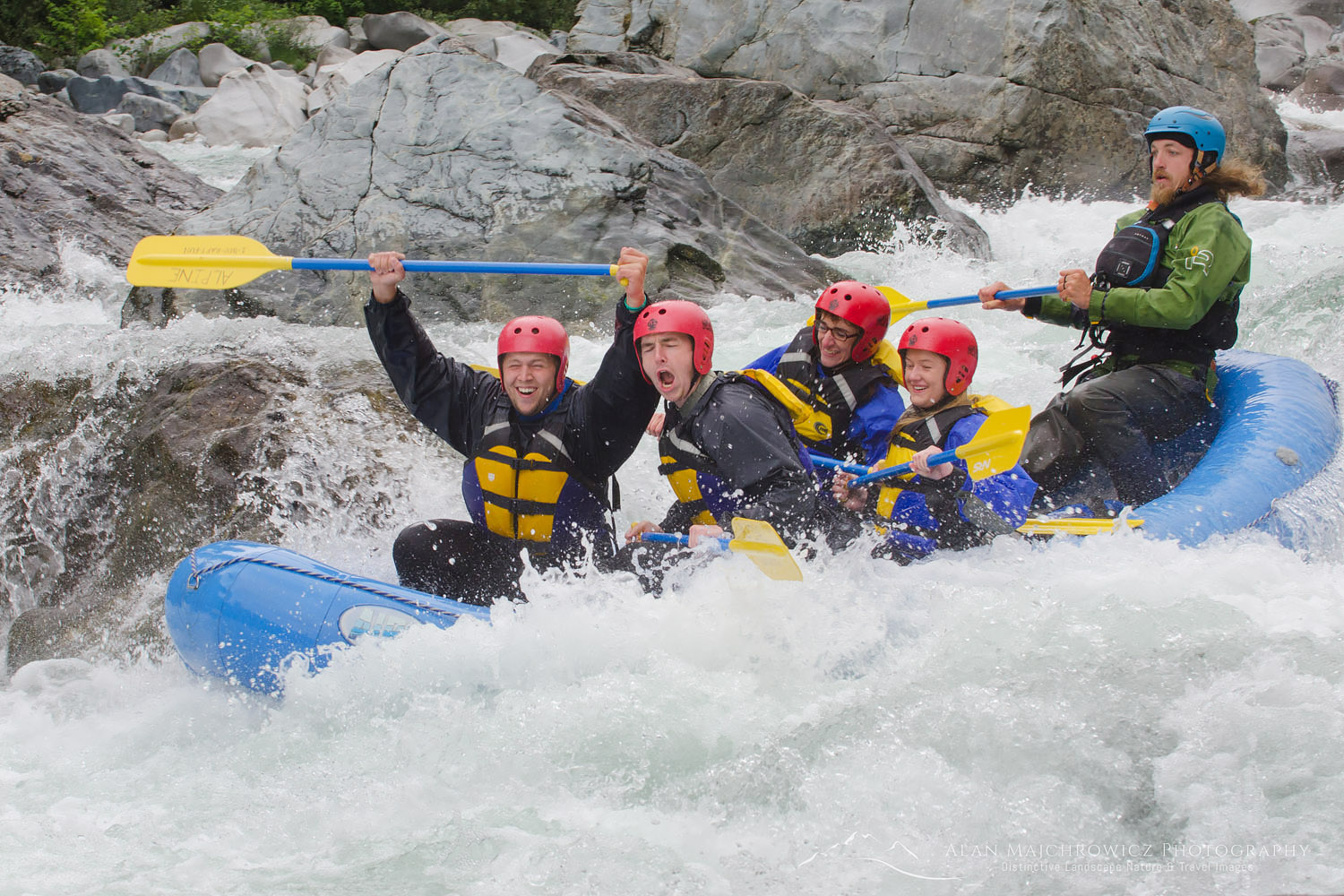 Whitewater rafting Skykomish River, Washington