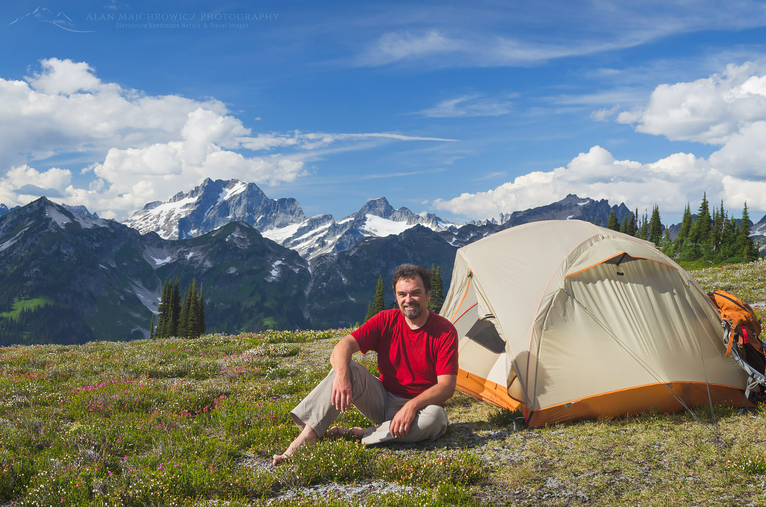 North Cascades backcountry camp Miners Ridge