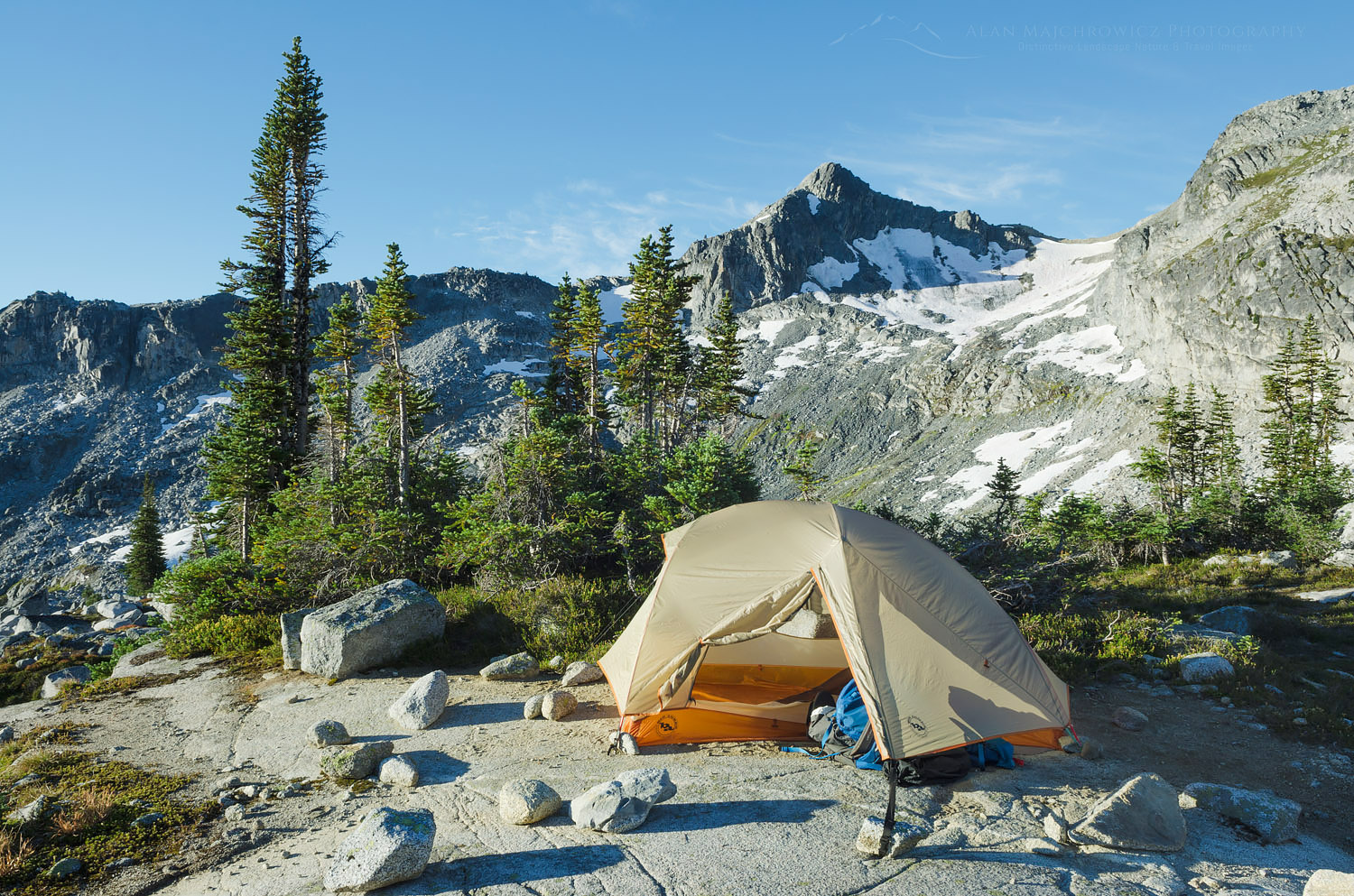 Backcountry camp Coast Mountains British Columbia