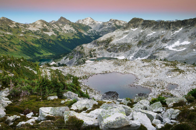 Alpenglow over Marriott Basin, Coast Mountains British Columbia