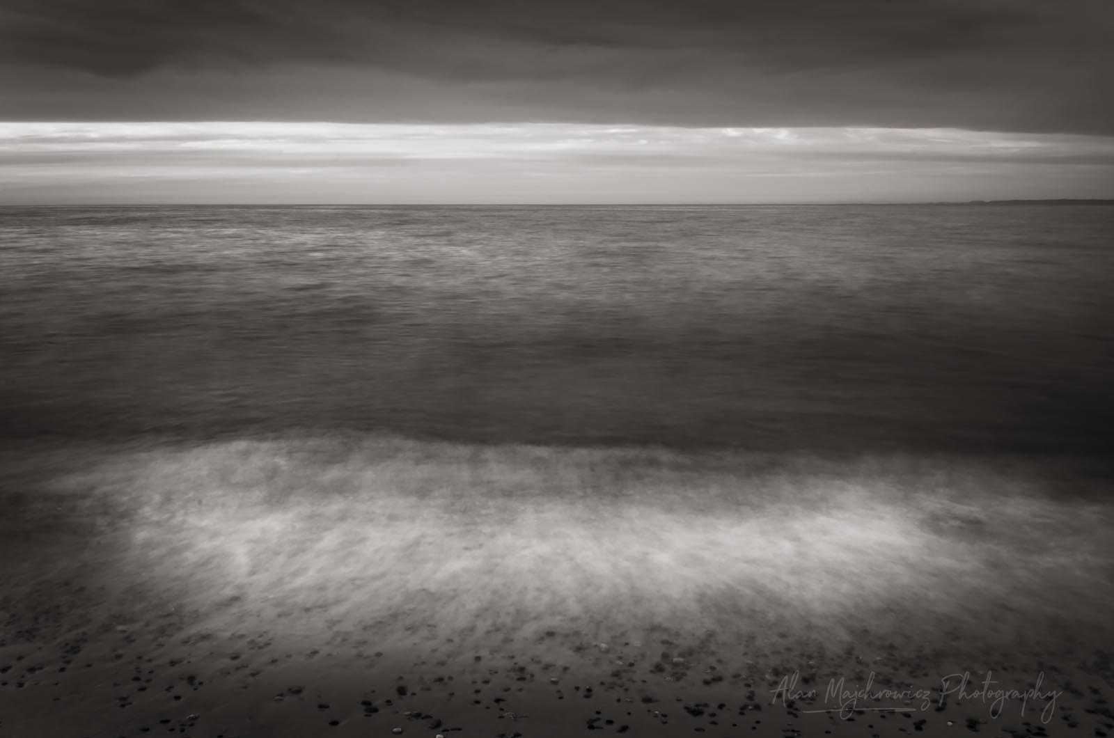 Lake Superior at Whitefish Point Michigan BW Photo Highlights 2018