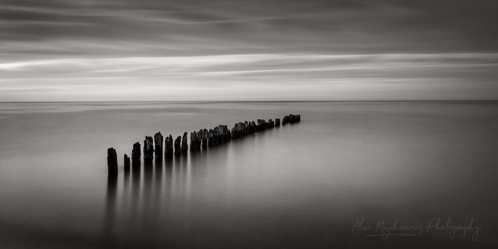 Lake Superior twilight Whitefish Point, Michigan BW Photo Highlights 2018
