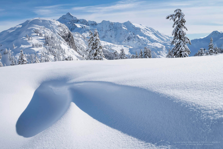Mount Shuksan in winter North Cascades