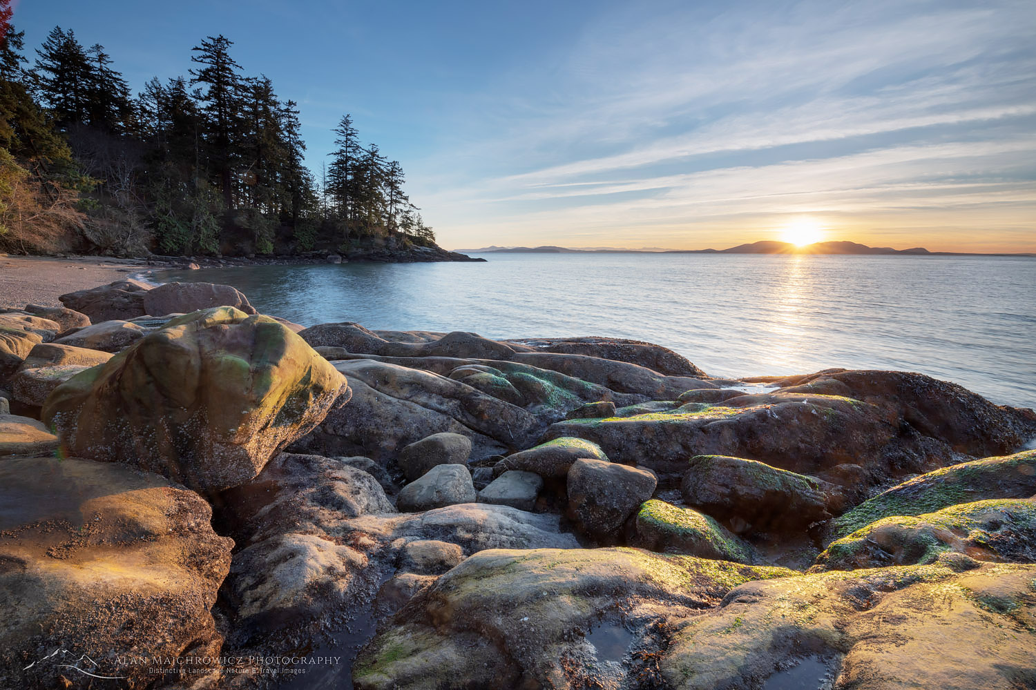 Wildcat Cove Sunset, Samish Bay Larrabee State Park, Washington