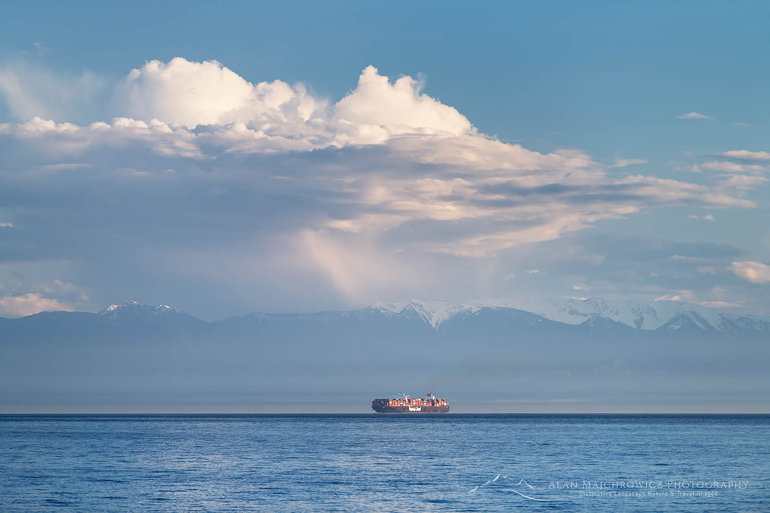 Container Ship Strait of Juan De Fuca
