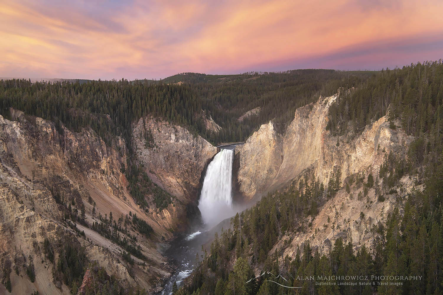 Yellowstone Falls Sunrise Trip Update: Grand Teton Yellowstone