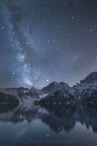 Milky Way Baron Lake Sawtooth Mountains