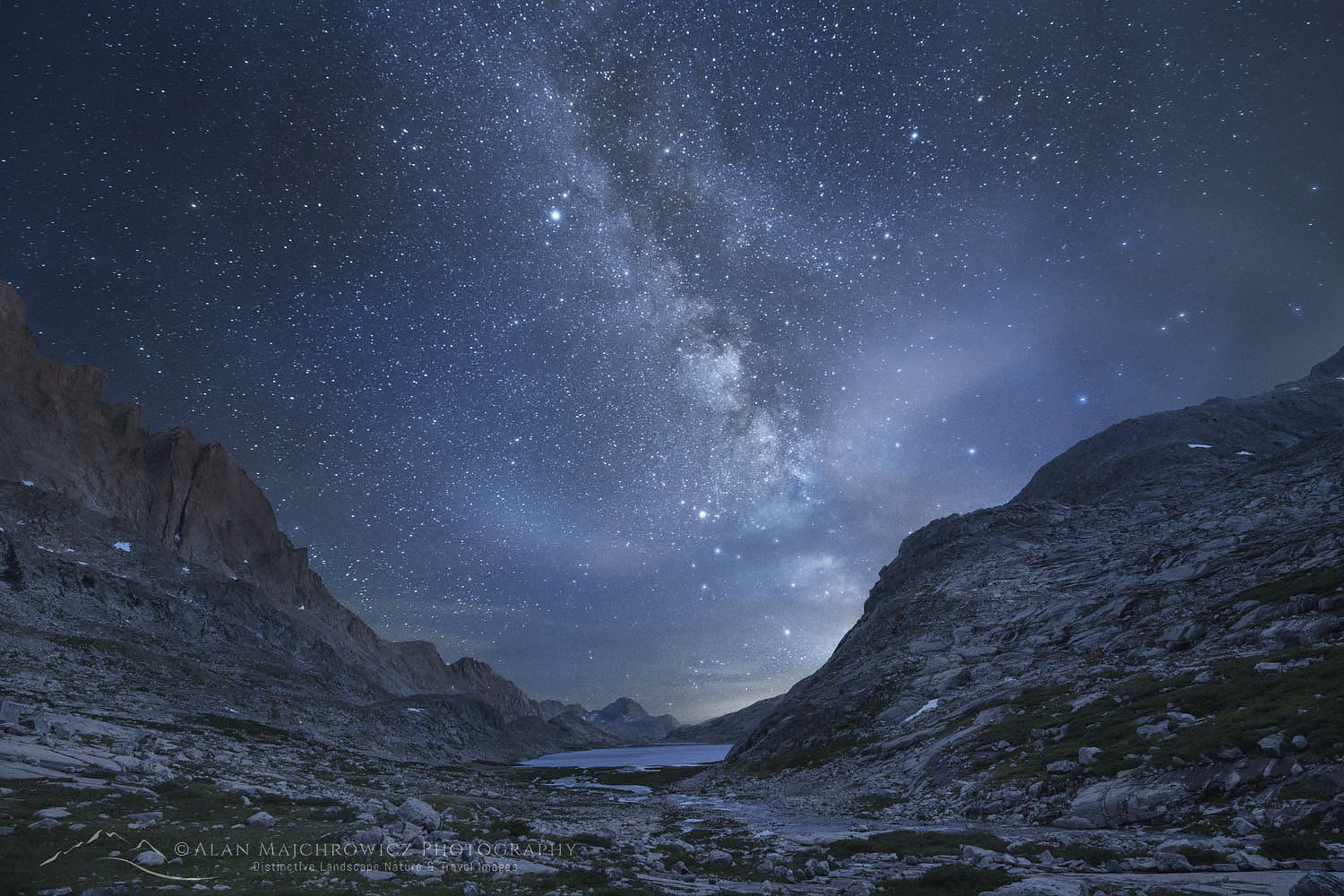 Milky Way over Upper Titcomb Basin Wind River Range Wyoming
