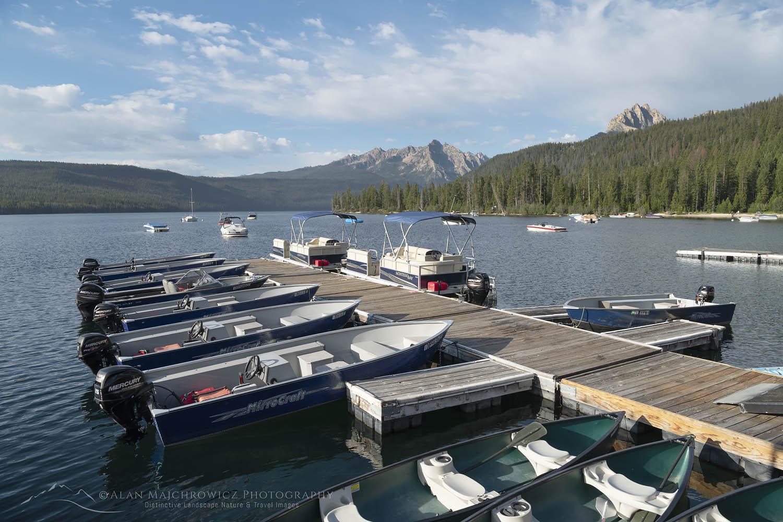 Redfish Lake Lodge boat dock, Redfish Lake Sawtooth Mountains Idaho