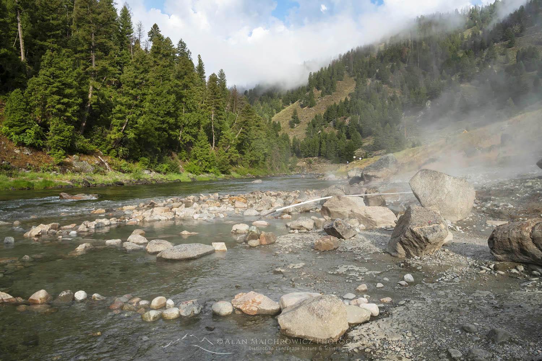 Sunbeam hot springs Salmon River Idaho