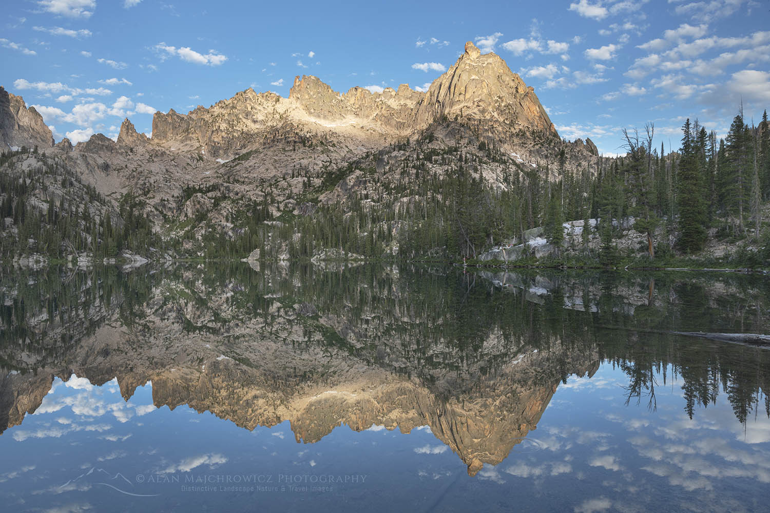 Baron Lake Warbonnet Peak Sawtooth Mountains