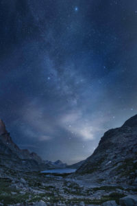 Milky Way over Upper Titcomb Basin Wind River Range Wyoming Photo Highlights 2019
