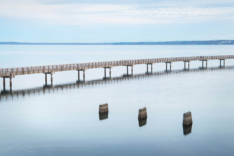 Boulevard Park Boardwalk, Taylor Dock on Bellingham Bay, Bellingham Washington
