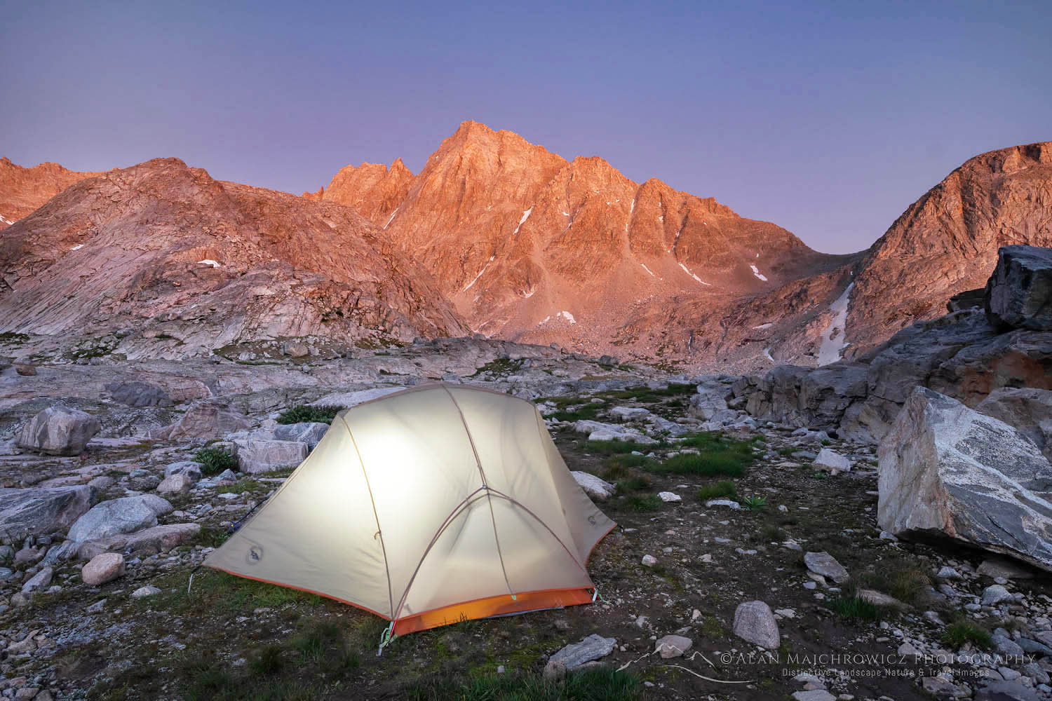 Indian Basin backcountry camp Wind River Range Wyoming