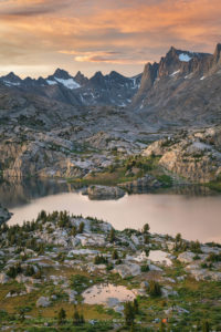 Peaks of Titcomb Basin and Island Lake Bridger Wilderness, Wind River Range Wyoming