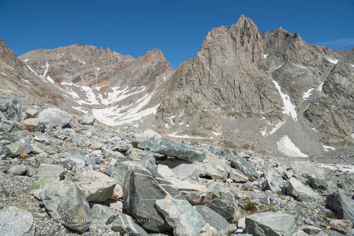 Bonney Peak and Mount Helen, Bridger Wilderness, Wind River Range Wyoming
