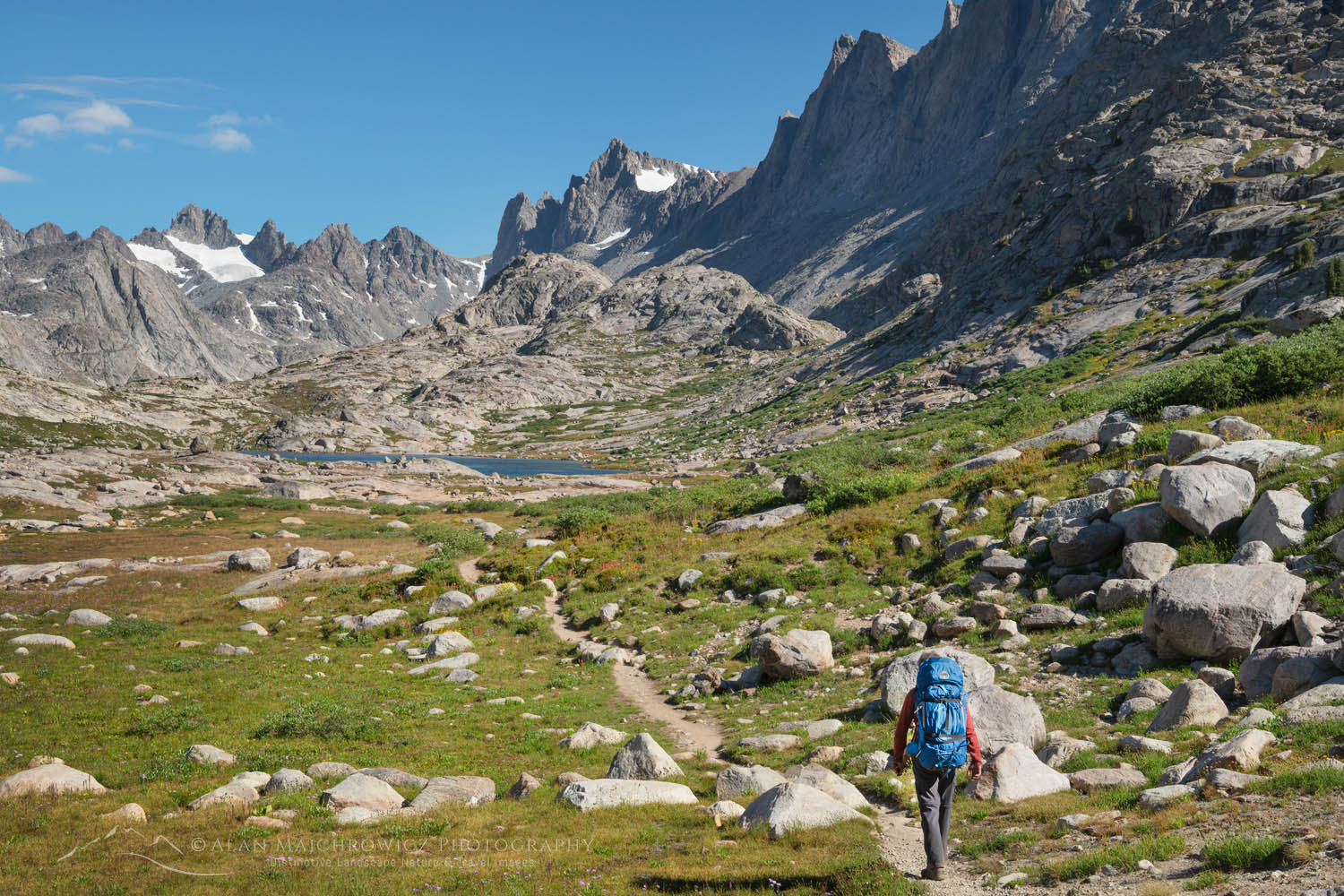 Titcomb Basin Backpacker Wind River Range Wyoming