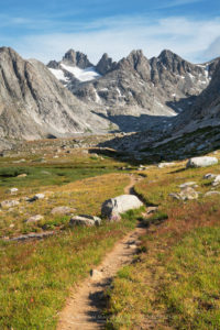 Titcomb Basin Trail, Bridger Wilderness, Wind River Range Wyoming