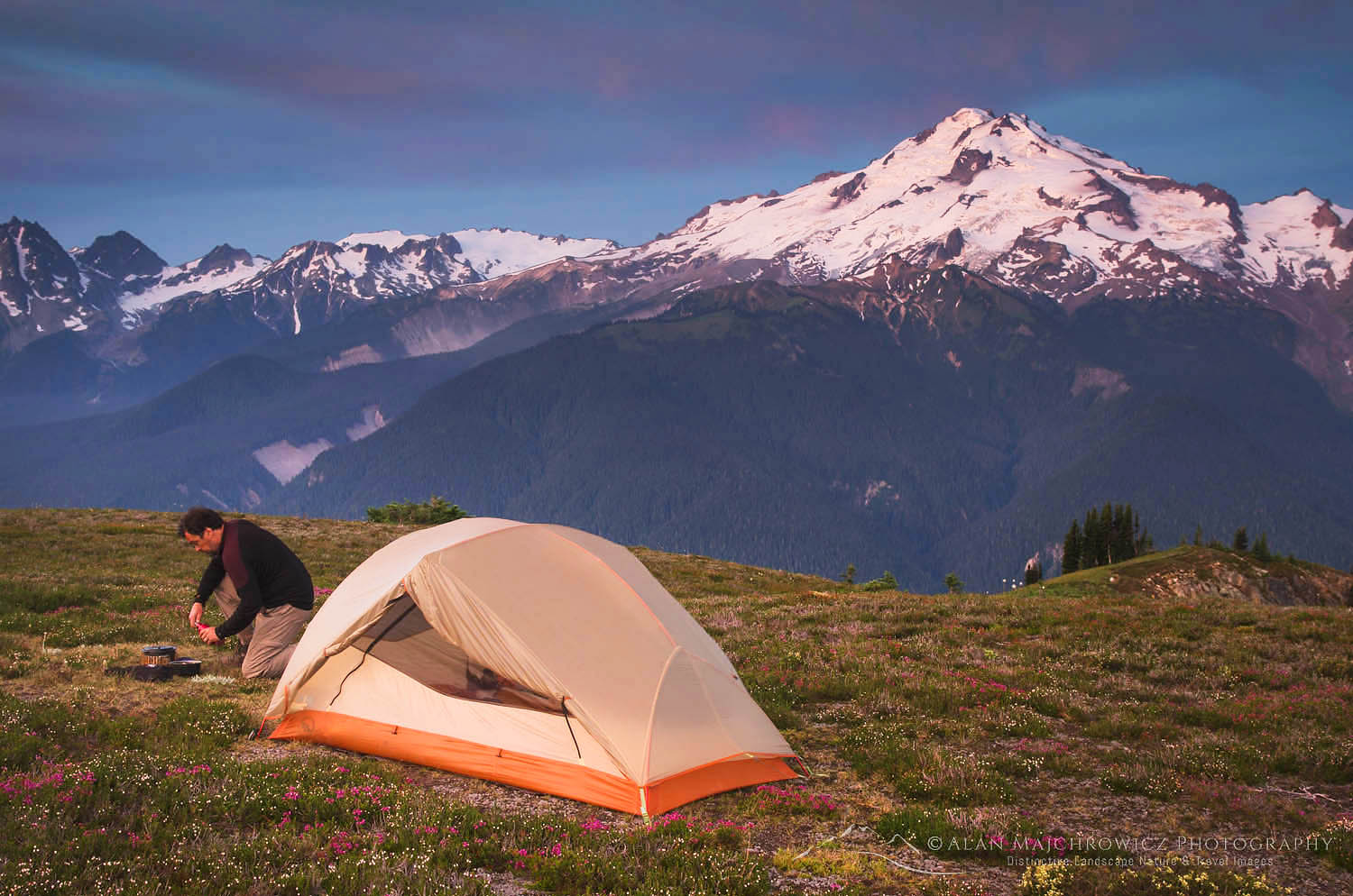 Glacier Peak backcountry camp North Cascades