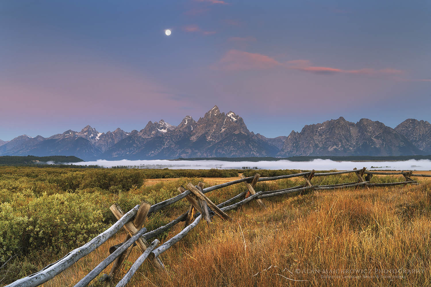 Full Moon Grand Teton National Park