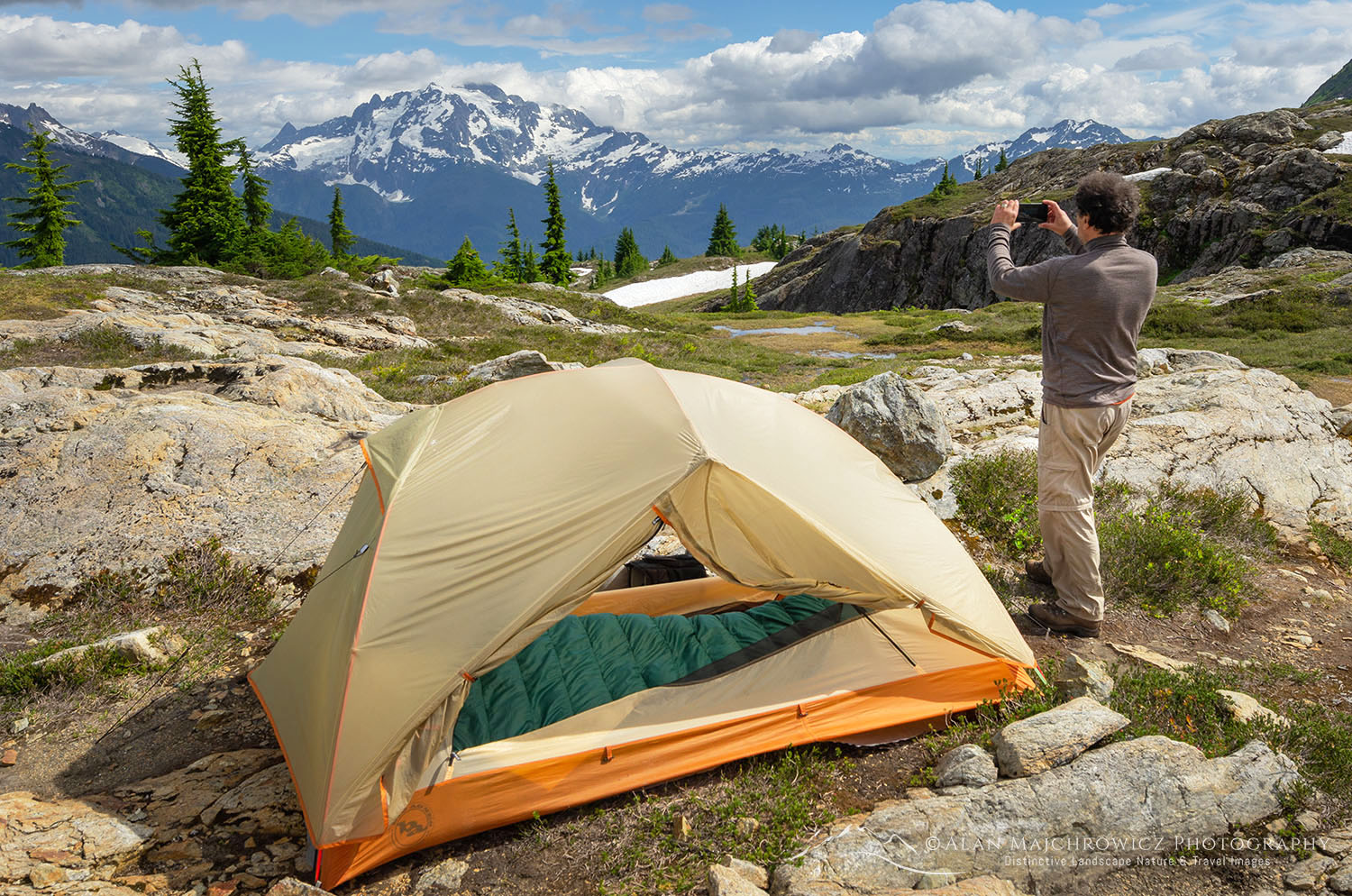 Mount Baker Wilderness campsite North Cascades Washington Backpacking Photography Gear Tips