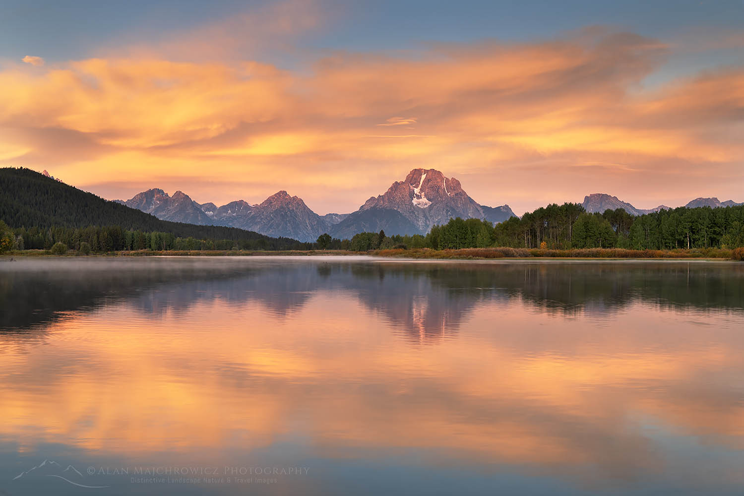Oxbow Bend sunrise Grand Teton National Park