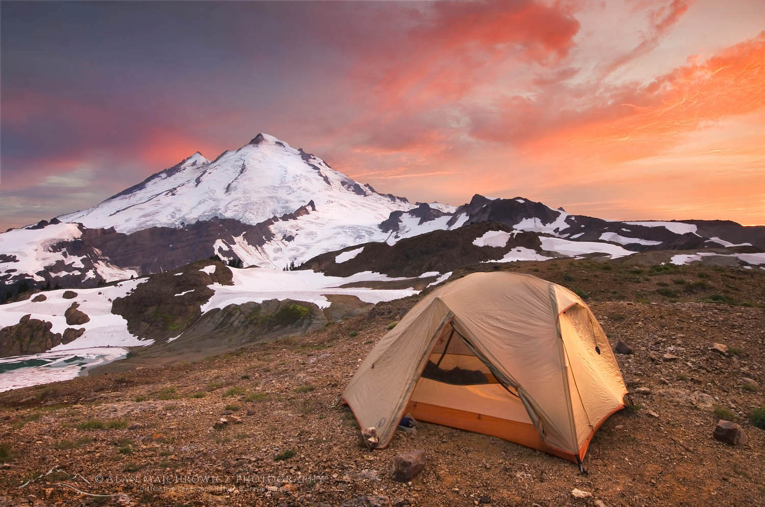 Mount Baker Wilderness campsite Backpacking Photography Tips